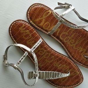 Sam Edelman Women's GIGI Sandals Silver Size 9M